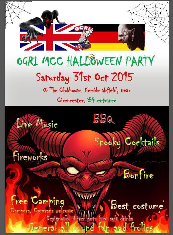 Halloween party 2015 flyer