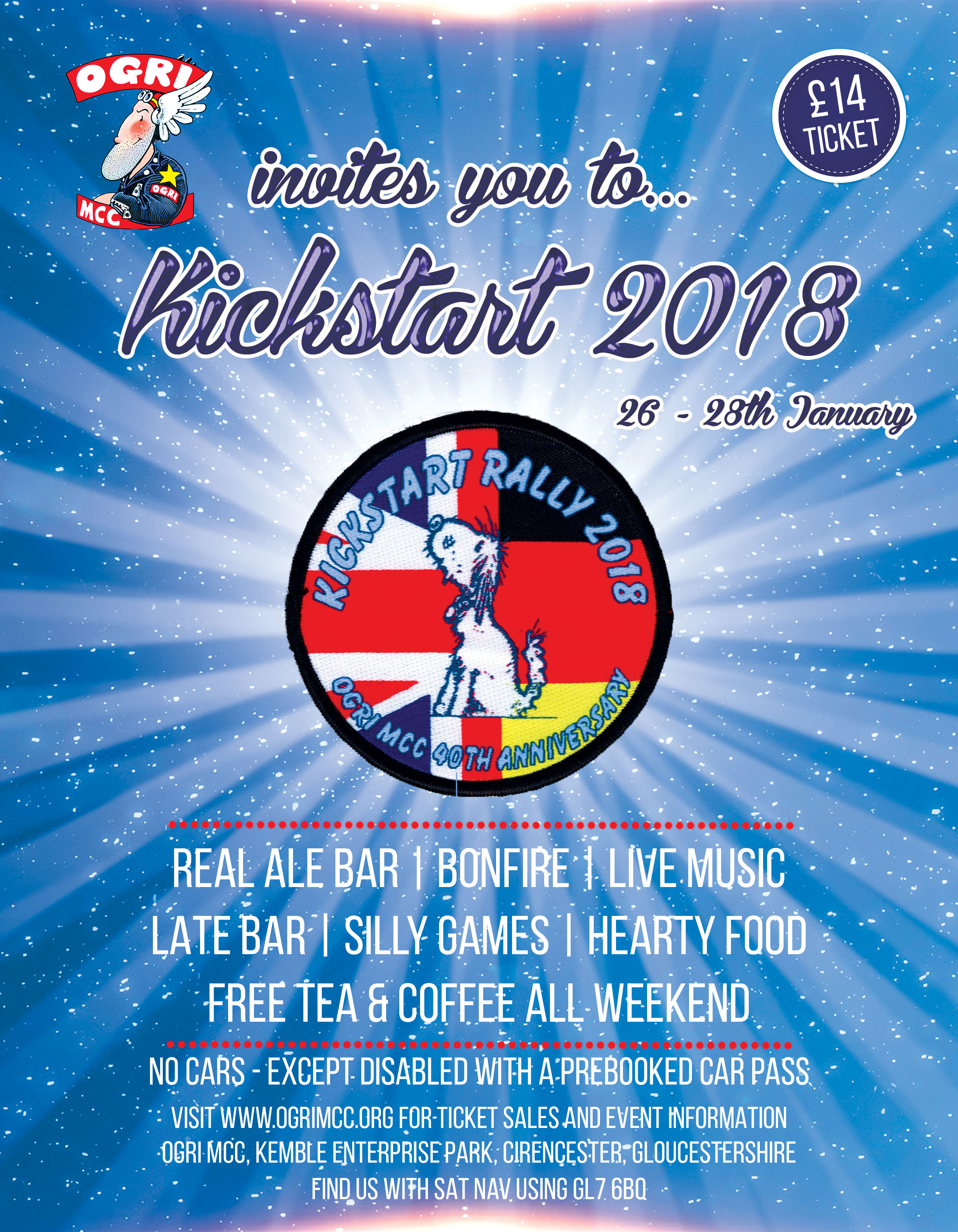 Kickstart Rally 2018 Flyer