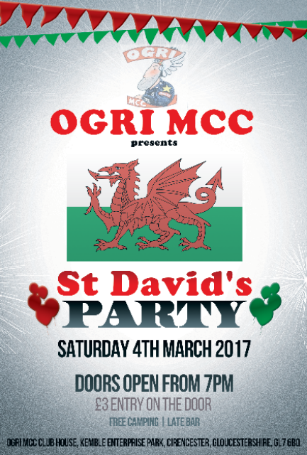 FLyer for St Davids Day Party