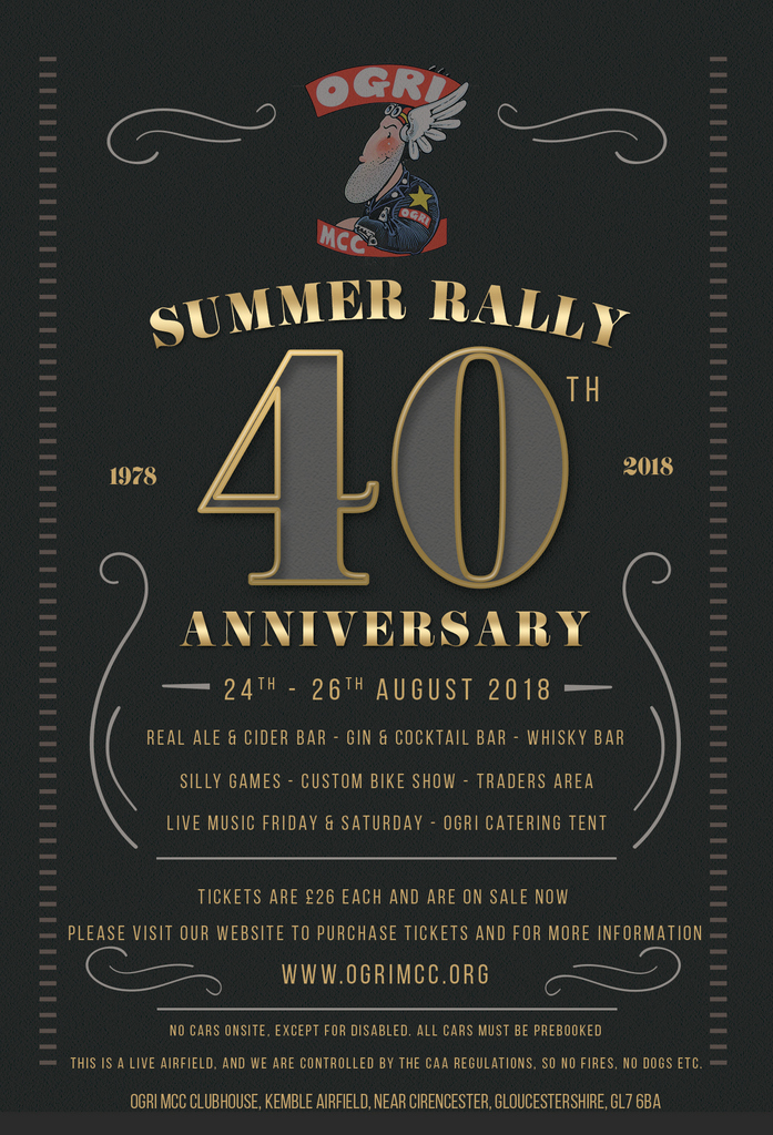 OGRI Summer Rally Flyer 2018