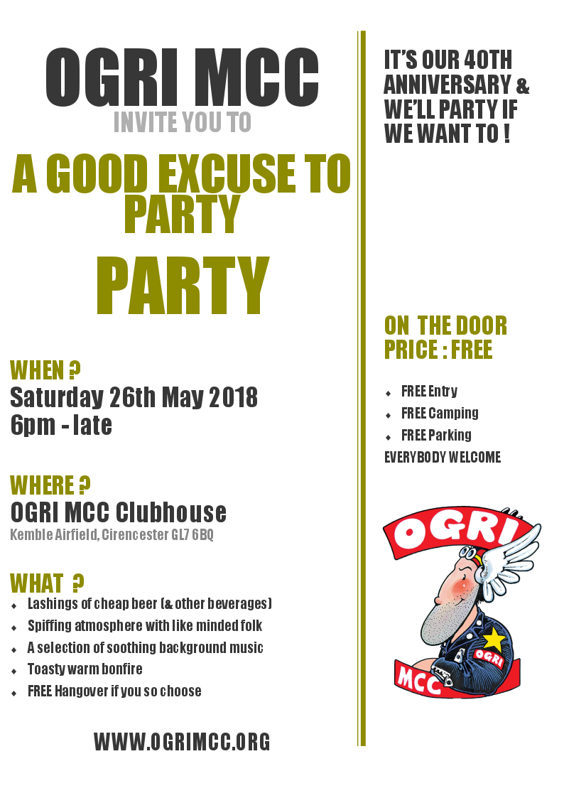26th May Open Party Flyer