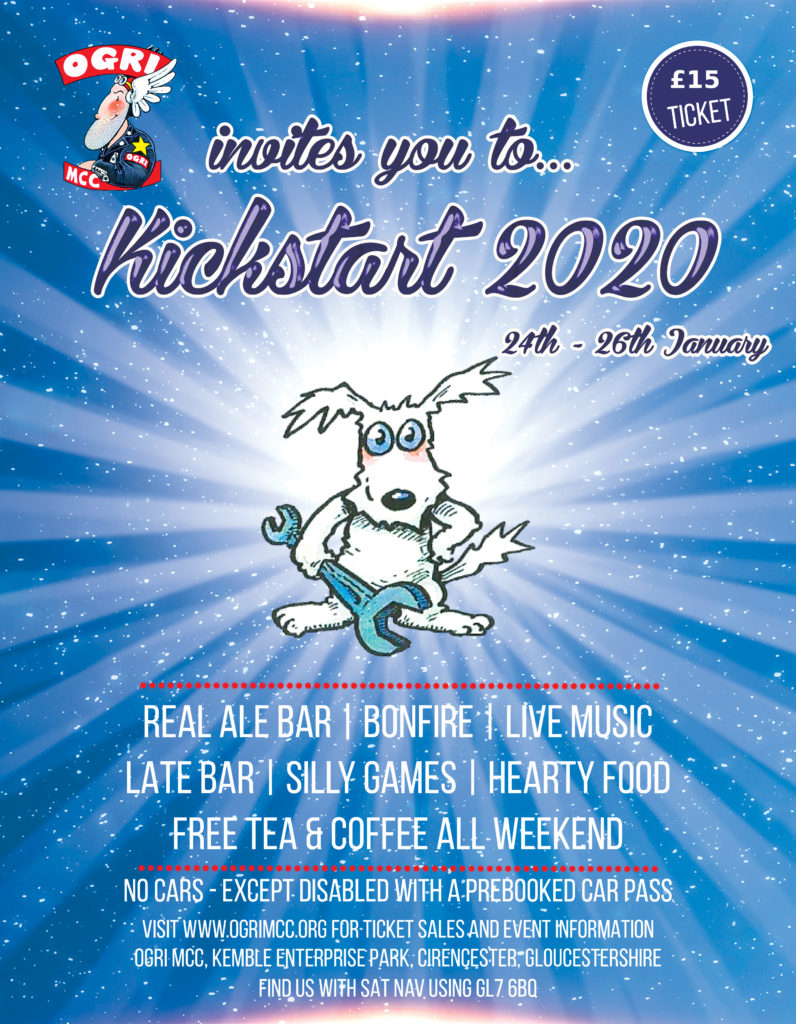 OGRI MCC Kickstart Rally 2020 Flyer