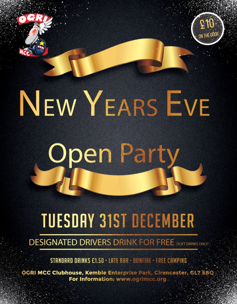NYE Party 2019 Ogri Flyer