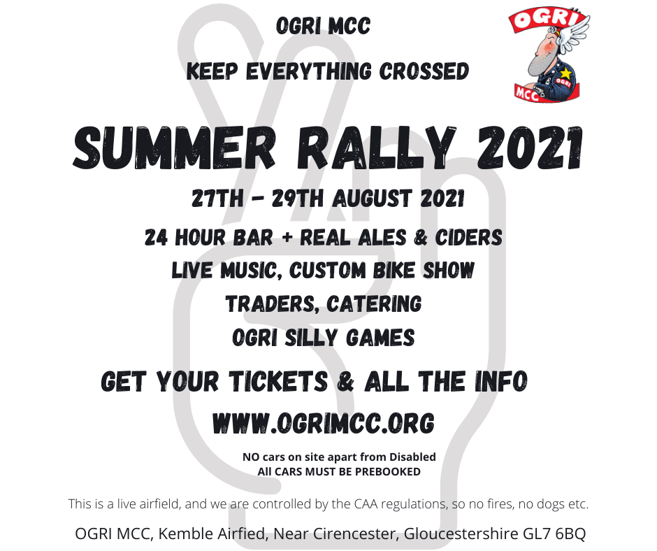 Facebook graphic for 2021 Summer Rally